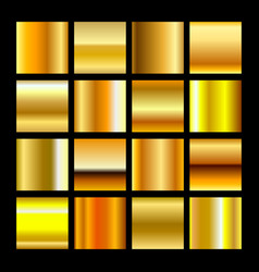 Gold is bright collection gradients set vector