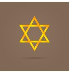 golden Magen David vector image
