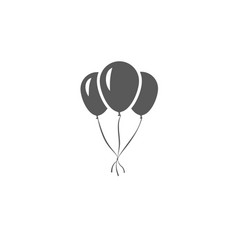 gray inflatable balloons tied to each other vector image