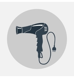 Hairdryer blow dryer two-pin plug icon vector