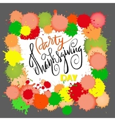 Happy Thanksgiving Day lettering vector
