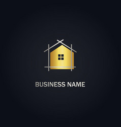 Home architect realty logo vector