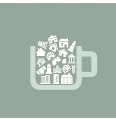 House a cup vector image