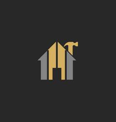house builder renovation company logo vector image