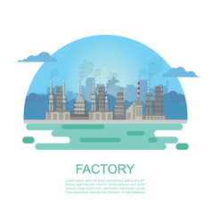 industrial factory and building vector image