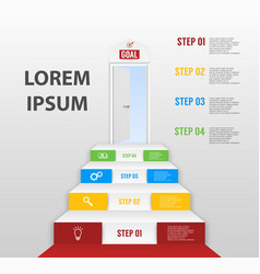 infographics with four step options vector image