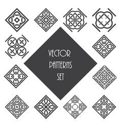 Knot ornament design set vector