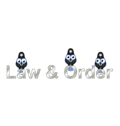 Law and order UK vector image