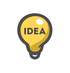 light bulb idea icon cartoon vector image