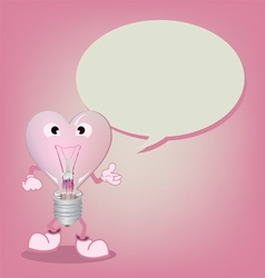 light bulb with Speech Bubble vector image