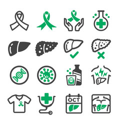 Liver cancer icon vector