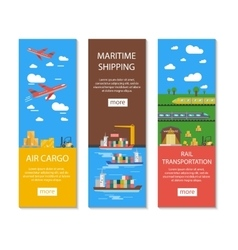 Logistics And Delivery Banners Set vector