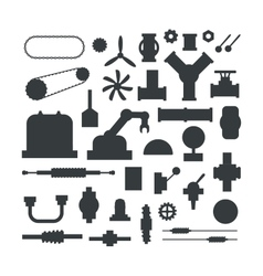 Machine parts vector