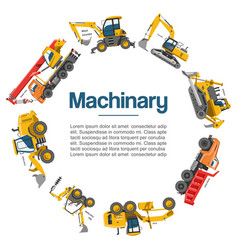 machinery and construction equipment cars vector image