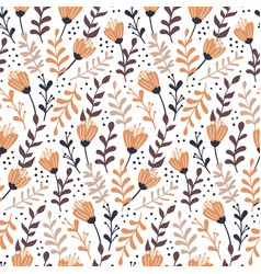 modern seamless pattern with autumn floral vector image
