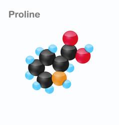 Molecule of proline pro an amino acid used in vector