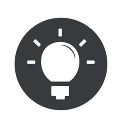 Monochrome round light bulb icon vector image