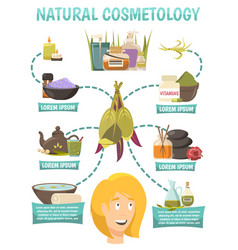 Natural cosmetology flowchart vector