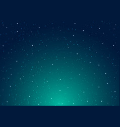 night shining starry night sky with stars vector image