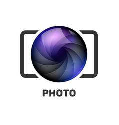 Photography logo template modern creative vector