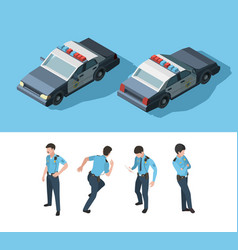 Policeman isometric guard officer security vector