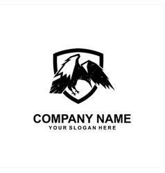 raven security logo vector image