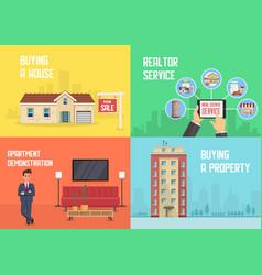 Real estate service flat vector