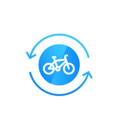 Rental bike bicycle icon vector