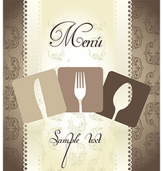 Restaurant and dinning design elements vector