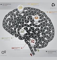 Road Street Business Infographic Brain Shape vector