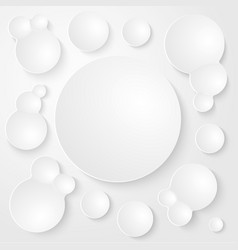 Round Plates Abstract Seamless Background vector image