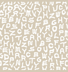 seamless funky alphabet pattern with vector image