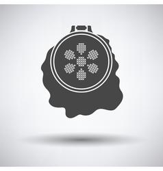 Sewing hoop icon vector image