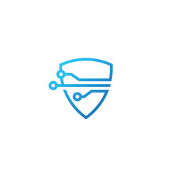 shield tech logo icon vector image