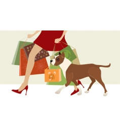shopping helper vector image
