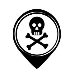 Skull danger isolated icon vector
