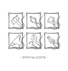 Smithy Icons Two vector image