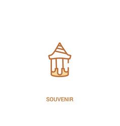 Souvenir concept 2 colored icon simple line vector
