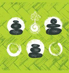 spa retreat organic eco pebble garden zen design vector image