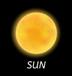 space sun icon realistic style vector image