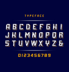 sport font alphabet with latin letters and vector image