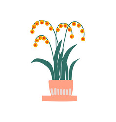 spring flowers in flowerpot beautiful potted vector image