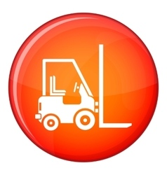 Stacker loader icon flat style vector