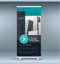 Standee roll up banner design for your business vector