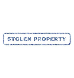 Stolen property textile stamp vector