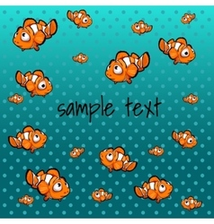 striped orange fish with space for text vector image