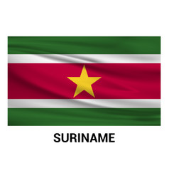 suriname flag design vector image