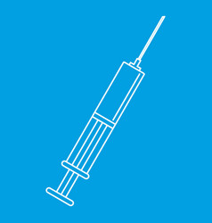 syringe icon outline style vector image