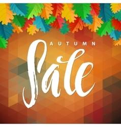 Triangle Autumn Sale Autumn Oak vector image