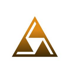 triangle logo icon design concept vector image